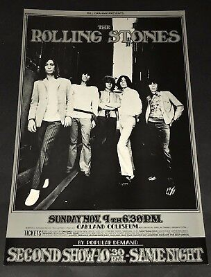 Rolling Stones  Concert Poster Oakland 1969  BG 201 Keith Mick