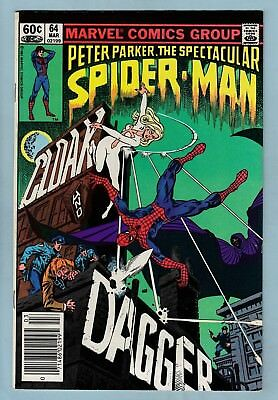 SPECTACULAR SPIDER-MAN # 64 VFN+ (8.5) 1st CLOAK & DAGGER APPEARANCE- TV SERIES