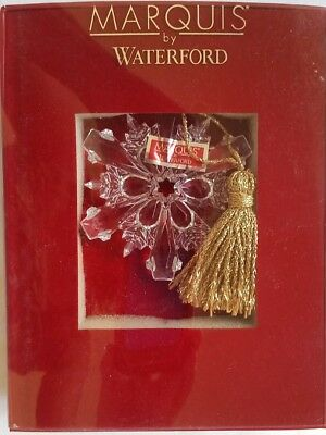 NEW 2008 Waterford Marquis Crystal Annual Snowflake Christmas Ornament