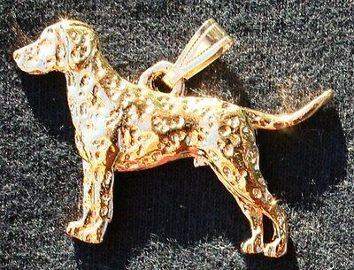 DALMATIAN Dog 24K Gold Plated Pewter Pendant Jewelry USA Made