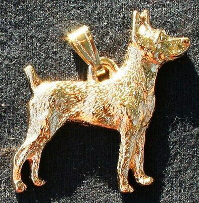RAT TERRIER Dog 24K Gold Plated Pewter Pendant Jewelry USA Made