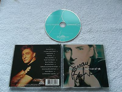 Autographed Signed By BARRY MANILOW - Summer Of '76, CD Album 1996, Arista, New