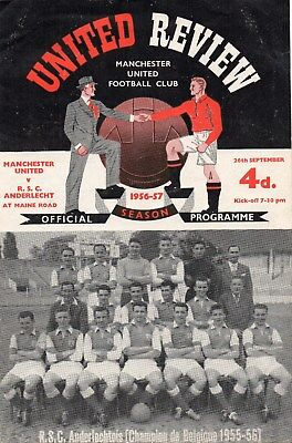 1956/57 Set Of Manchester United European Homes All In Very Good Condition