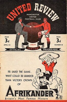 46/7 NO.20 MANCHESTER UNITED v WOLVERHAMPTON WANDERERS FIRST DIV. VERY GOOD