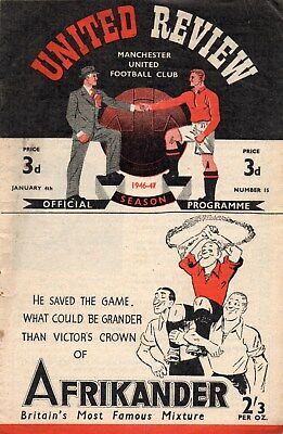 46/7 NO.15 MANCHESTER UNITED v CHARLTON ATHLETIC FIRST DIV. VERY GOOD CONDITION