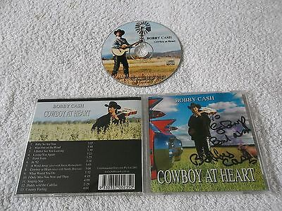 Autographed Signed By BOBBY CASH - Cowboy At Heart, CD Album 2003, BCCD001, Rare