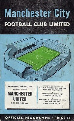 56/57 MANCHESTER CITY v MANCHESTER UNITED CHARITY SHIELD GOOD