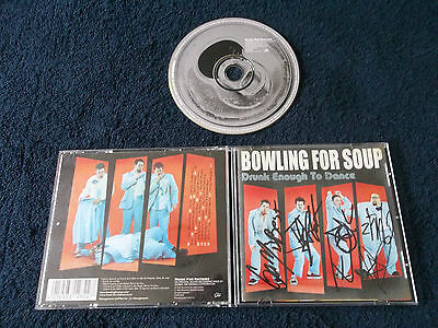 Autographed Signed x4, BOWLING FOR SOUP - Drunk Enough To Dance,CD 2002 CDMFN282