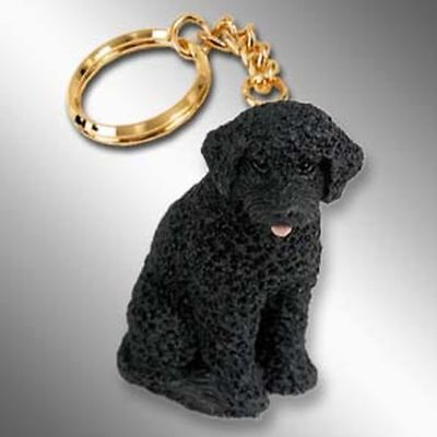 Portuguese Water Dog Dog Tiny One Resin Keychain Key Chain Ring