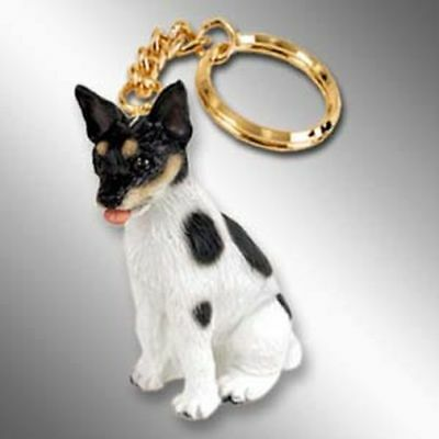 Rat Terrier Dog Tiny One Resin Keychain Key Chain Ring