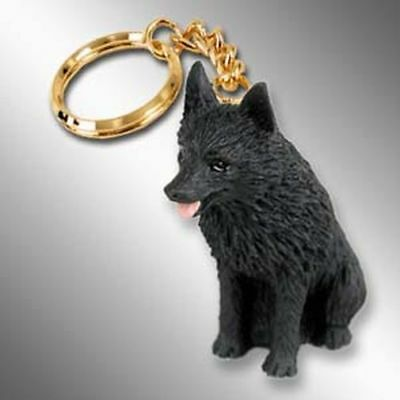 Schipperke Dog Tiny One Resin Keychain Key Chain Ring