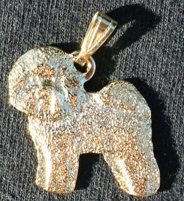 BICHON FRISE Dog 24K Gold Plated Pewter Pendant Jewelry USA Made