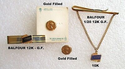 Estate Lot of Vintage Men's Collectible COLEMAN Gold Jewelry
