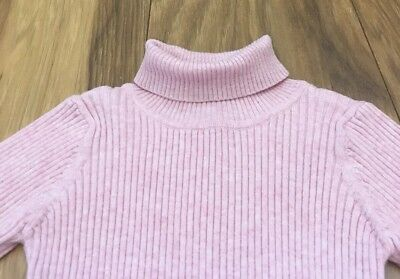Girls Next Pink Ribbed Jumper Age 12-18 Months Excellent Condition