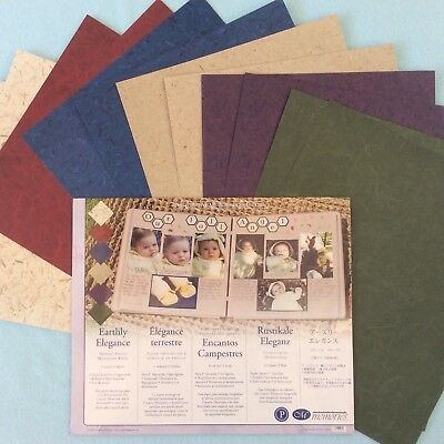 "Creative Memories 10"" X 12"" EARTHLY ELEGANCE PHOTO MOUNTING PAPER - 12 SHEETS"