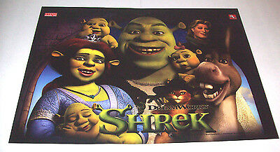 SHREK By STERN 2008 NOS ORIGINAL PINBALL MACHINE TRANSLITE BACKGLASS ART SHEET