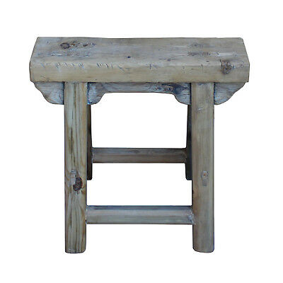 Chinese Raw Wood Rough Finish Accent Single Sitting Stool cs3186