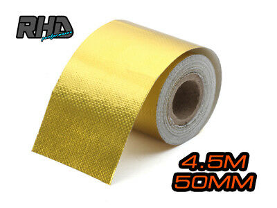 4.5mx50mm GOLD High Temperature Heat Tape Self Adhesive Reflective protect Wrap