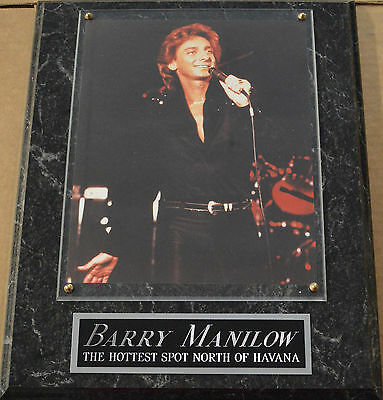 Die Hard Fan Barry Manilow Framed 8 X 10 Photo Plaque-Sign-Poster