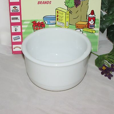 "Vintage Heavy White Milk Glass Mixing Bowl 6"" Medium Sized Kitchenware Mcm"