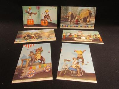 St Louis Zoological Park 1952 Postcards 6 Unused Direct Color