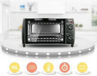10L Mini Home Commercial Black Multi-function Heating Benchtop Electric Oven *