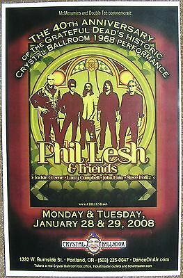 PHIL LESH 2008 Gig POSTER Portland Oregon Grateful Dead Concert