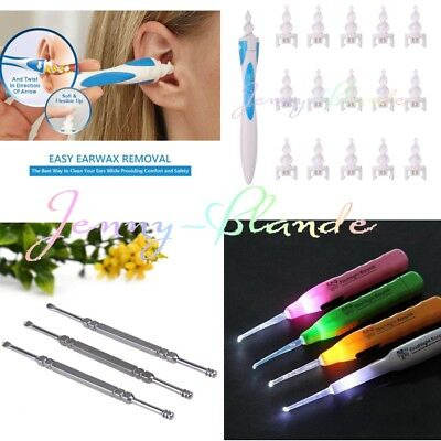3 Style Smart Earwax Removal Soft Spiral Ear Cleaner Multifunctional Swab Easy