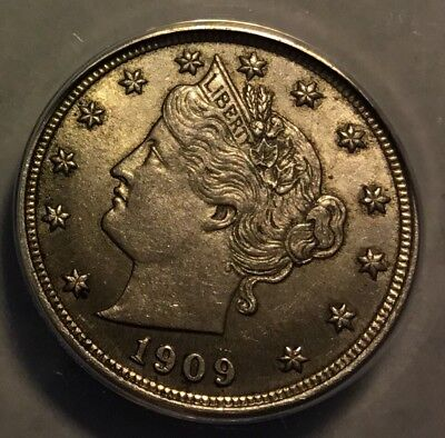 1909 Liberty Nickel, ANACS AU58, No-issue Coin, lowest price on Ebay!