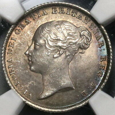 1842 NGC MS 63 Silver 6 Pence Victoria GREAT BRITAIN Coin (17012701C)
