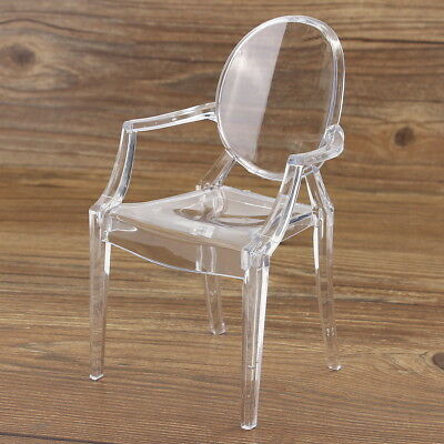 1:6 Scale Plastic Dollhouse Miniature Armchair Furniture Toy For Barbie Doll BJD