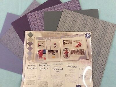 """Creative Memories 10"""" X 12"""" NORTHERN TRANQUILITY PHOTO MOUNTING PAPER 12 SHEETS"""