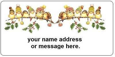 30 Personalized Return Address Labels Christmas Buy 3 get 1 free (nc 149)