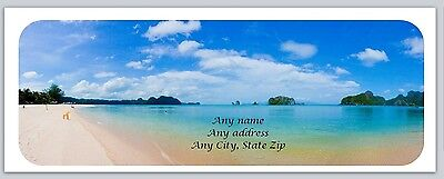 30 Personalized Return Address Labels Scenic Beach Buy 3 get 1 free (c 778)