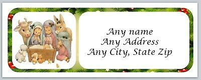 Personalized Address labels Christmas Nativity Buy 3 get 1 free (ac 47)