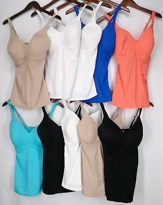 Rhonda Shear Camisole 2-Pack Molded Cup w/ Adjustable Straps New