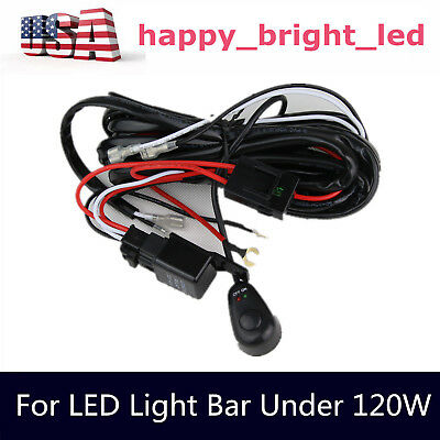 1X 12V 40A LED Work Light Bar Wiring Harness Kit ON/OFF Switch Relay Cable KIT