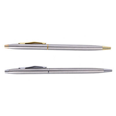 0.7mm Metal Ballpoint Pen Stationery Stainless Steel Rod Rotating Pen Ballpen UK