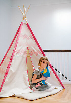 Canvas Teepee Wigwam Childrens/Kids Outdoor/Indoor Play-Tent Wendy Play-House