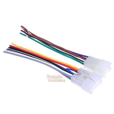 2x 130mm Car Stereo CD Player Radio Wiring Harness Wire Adapter Plugs for Toyota