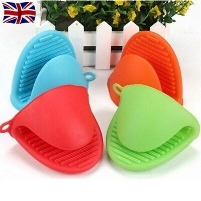 Silicone Hot Pot Holder Oven Gloves Mini Oven mitts cooking pinch grips UK