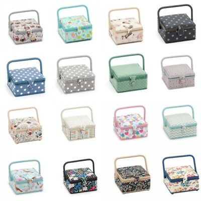 Small Square Sewing Basket Craft Hobby Sewing Box