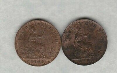1886 Victorian Farthing In Near Extremely Fine Condition
