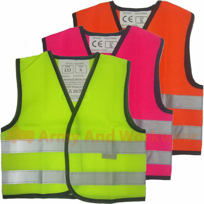 Baby Mini Kids Hi Viz Safety Vest Waistcoat Visability Childrens School Horse