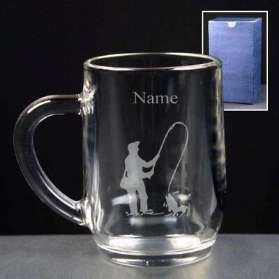 Personalised ANGLING FISHING Engraved Pint or Half Pint Tankard Any Message Gift