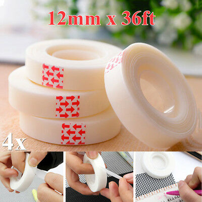 4 Roll REMOVABLE Invisible Magic Tape Seamless Can Write Wipe Matte 12mm x 33m