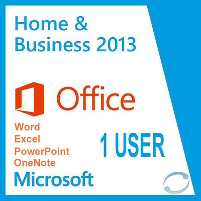 Microsoft Office Home & Business 2013 - 32/64 Bit Full Licence - Worldwide