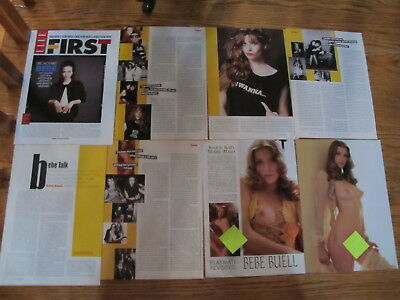 Vintage Bebe Buell,neuwirth Us Clippings