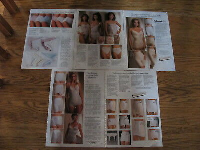 Vintage 1988,jessica Lingerie Print Ads Clippings,sears.