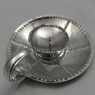 Superb Planished Arts & Crafts Silver Chamberstick Ronald Everett Couch 1966
